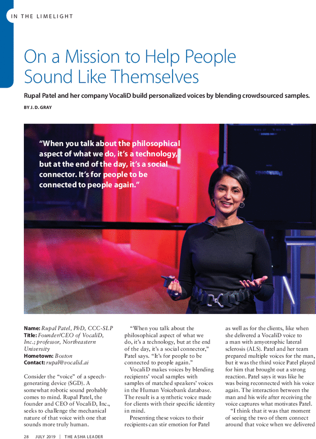 On a Mission to Help People Sound Like Themselves: Rupal